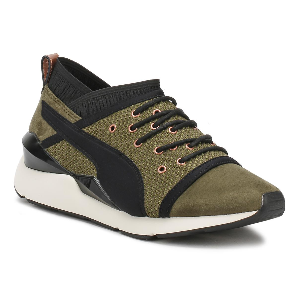 PUMA Womens Olive Green Night Pearl Trainers Women s In Green in ... fc7264e49