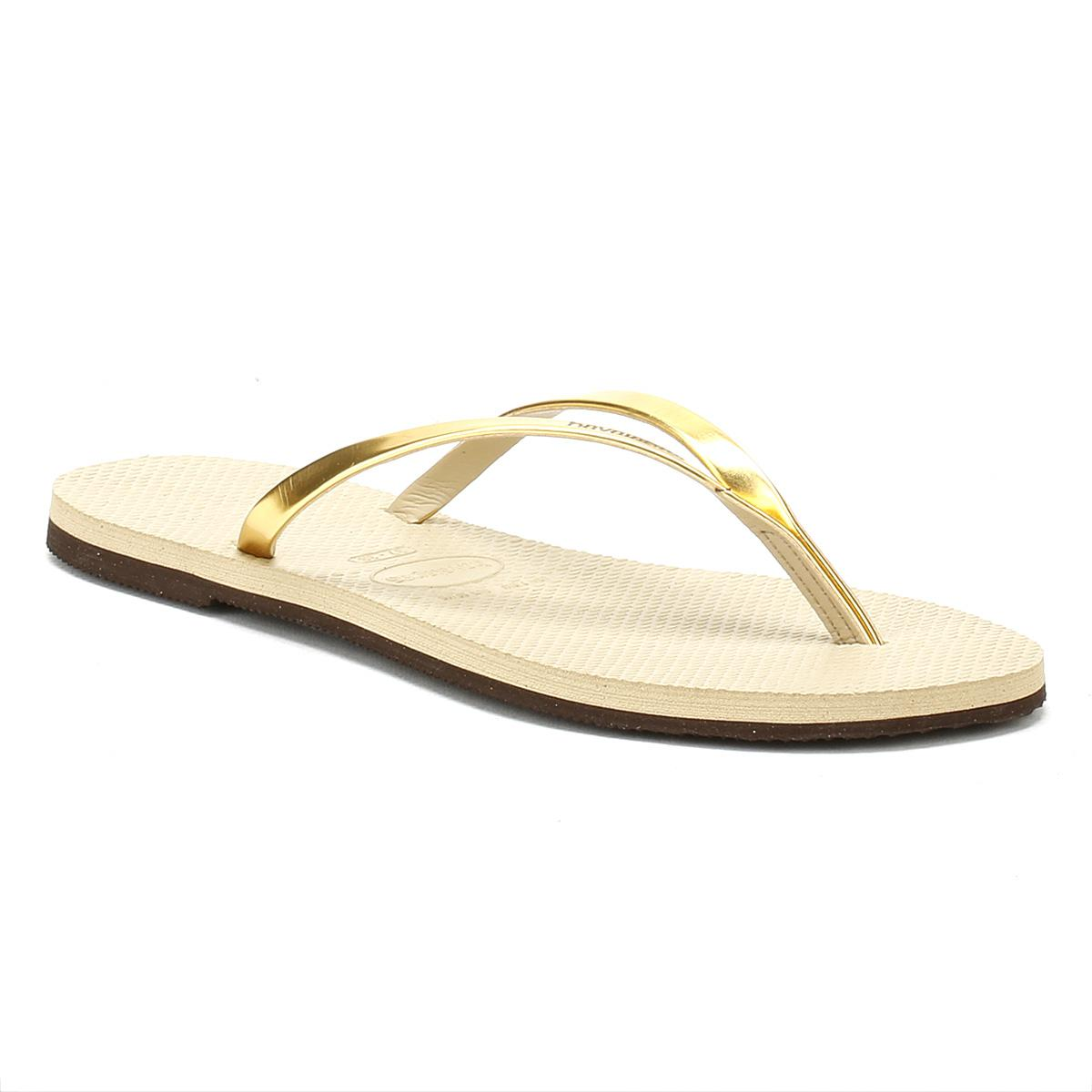 Metallic gold 'You' flip flops for sale very cheap largest supplier sale online clearance for cheap outlet ebay big discount cheap online Y4ARehg