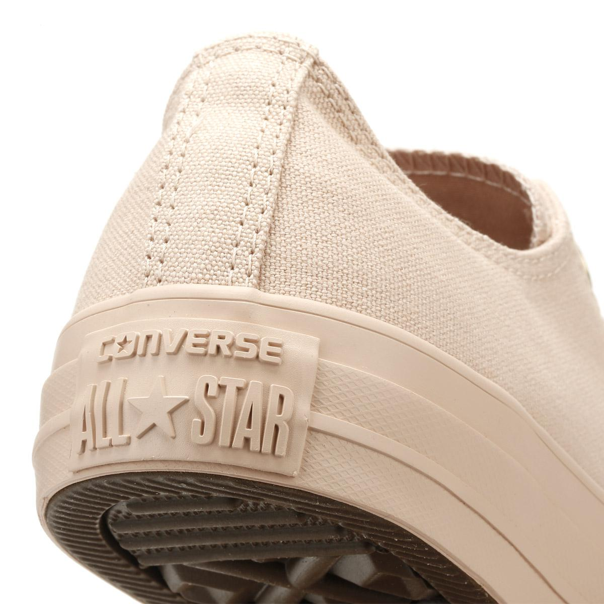 6ba313b880e6 Converse Chuck Taylor All Star Womens Particle Beige Ox Trainers in ...