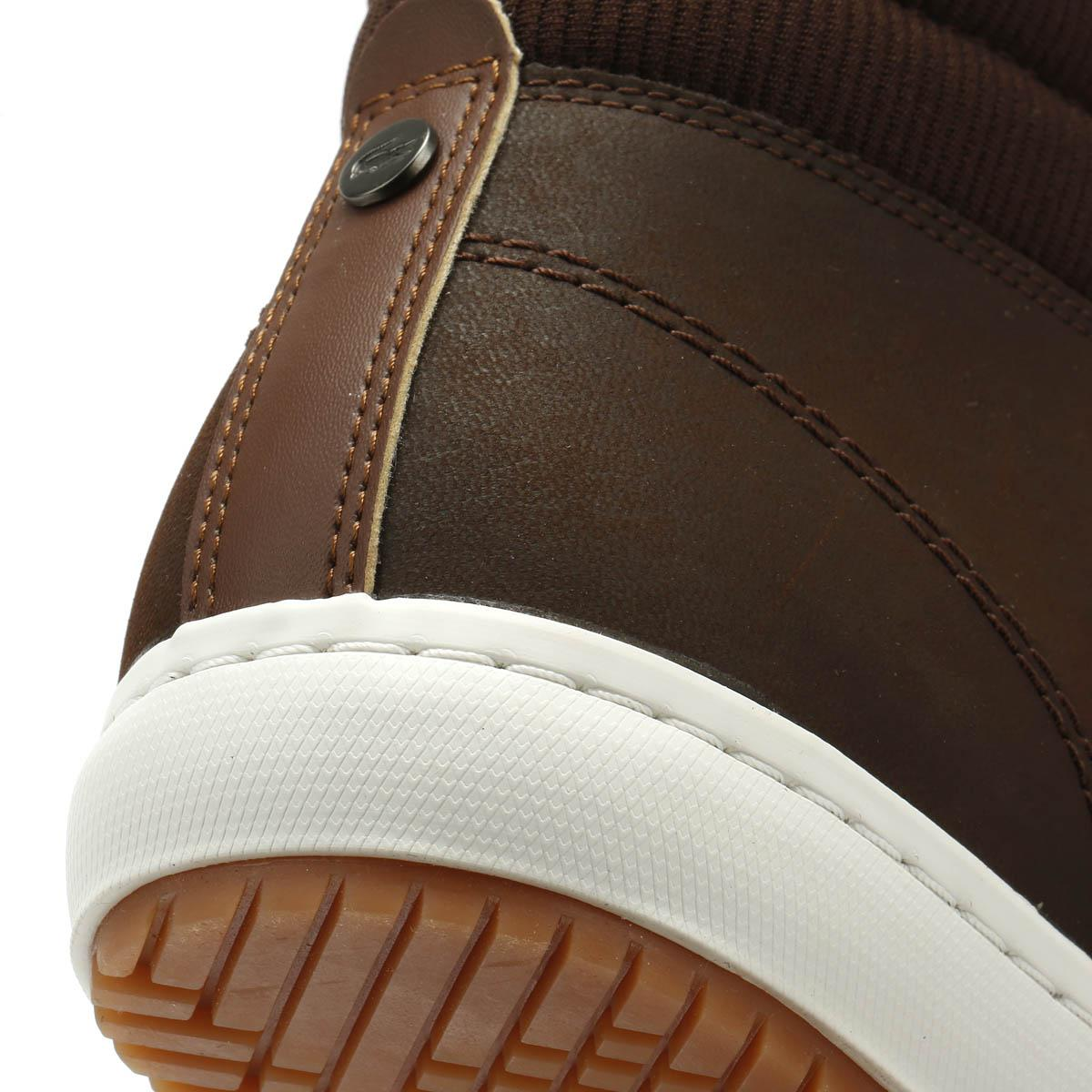 c800cb18a Lacoste Straightset Insulac 318 1 Mens Dark Brown Trainers in Brown ...