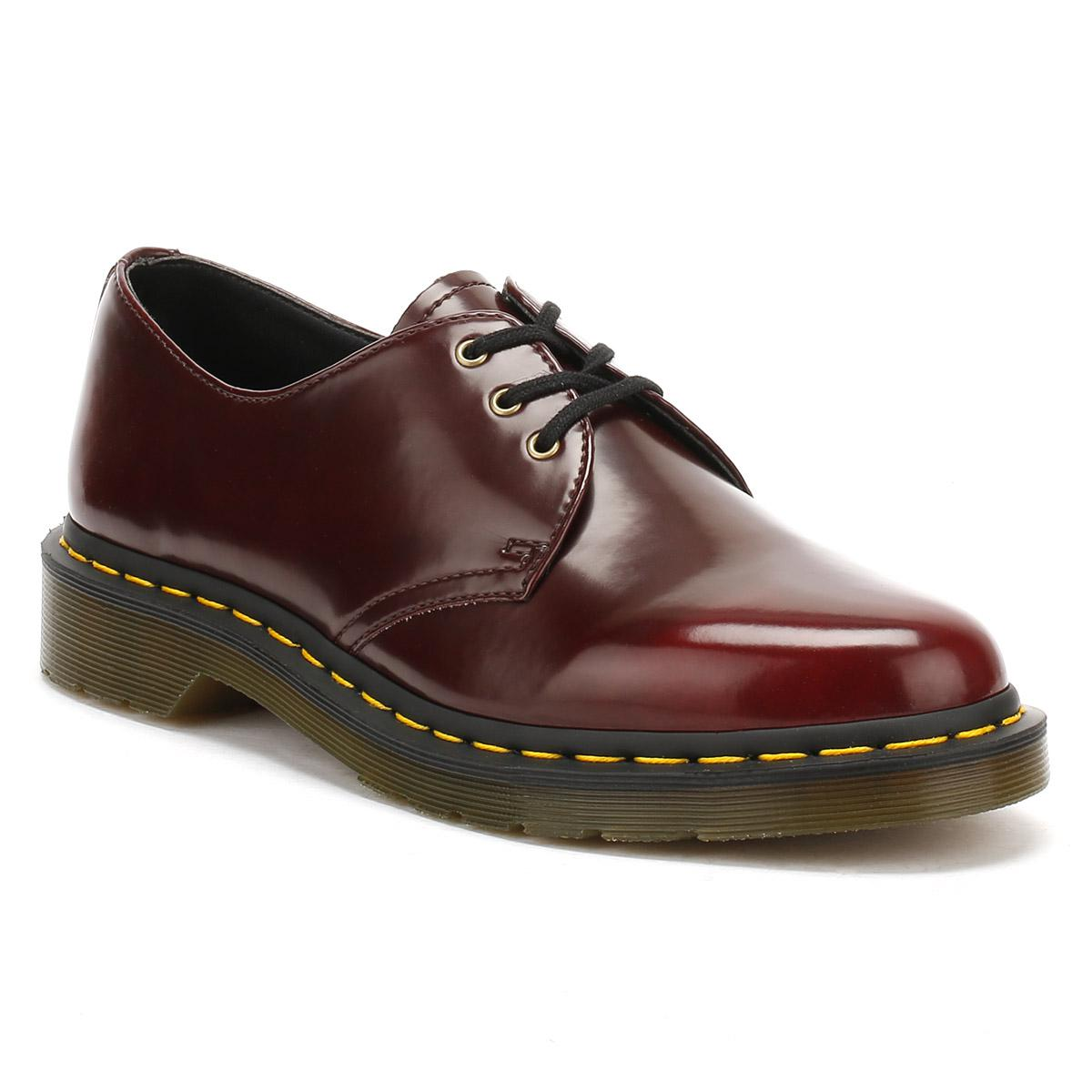 Womens 1461 Temperley Moccasins, Red Dr. Martens