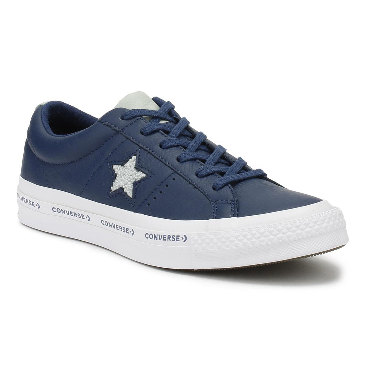 Baskets ONE STAR PINSTRIPE CONVERSE blu Converse dBymoI9U4