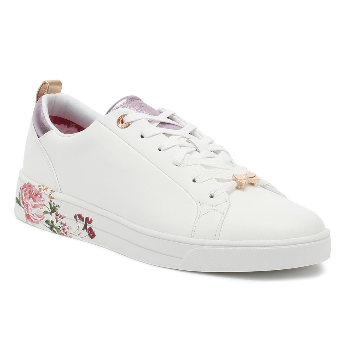 cad4fb0fda26 Ted Baker Womens White   Serenity Giellip Trainers in White - Lyst