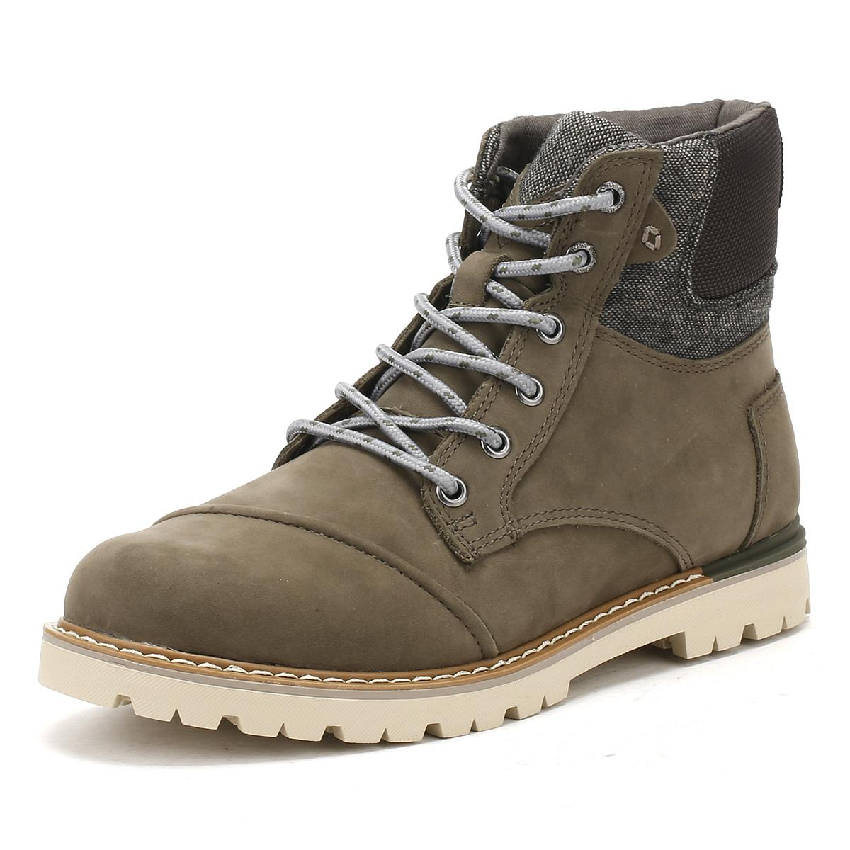 1a481e06986 TOMS Mens Tarmac Olive Brown Nubuck Ashland Boots in Brown for Men ...