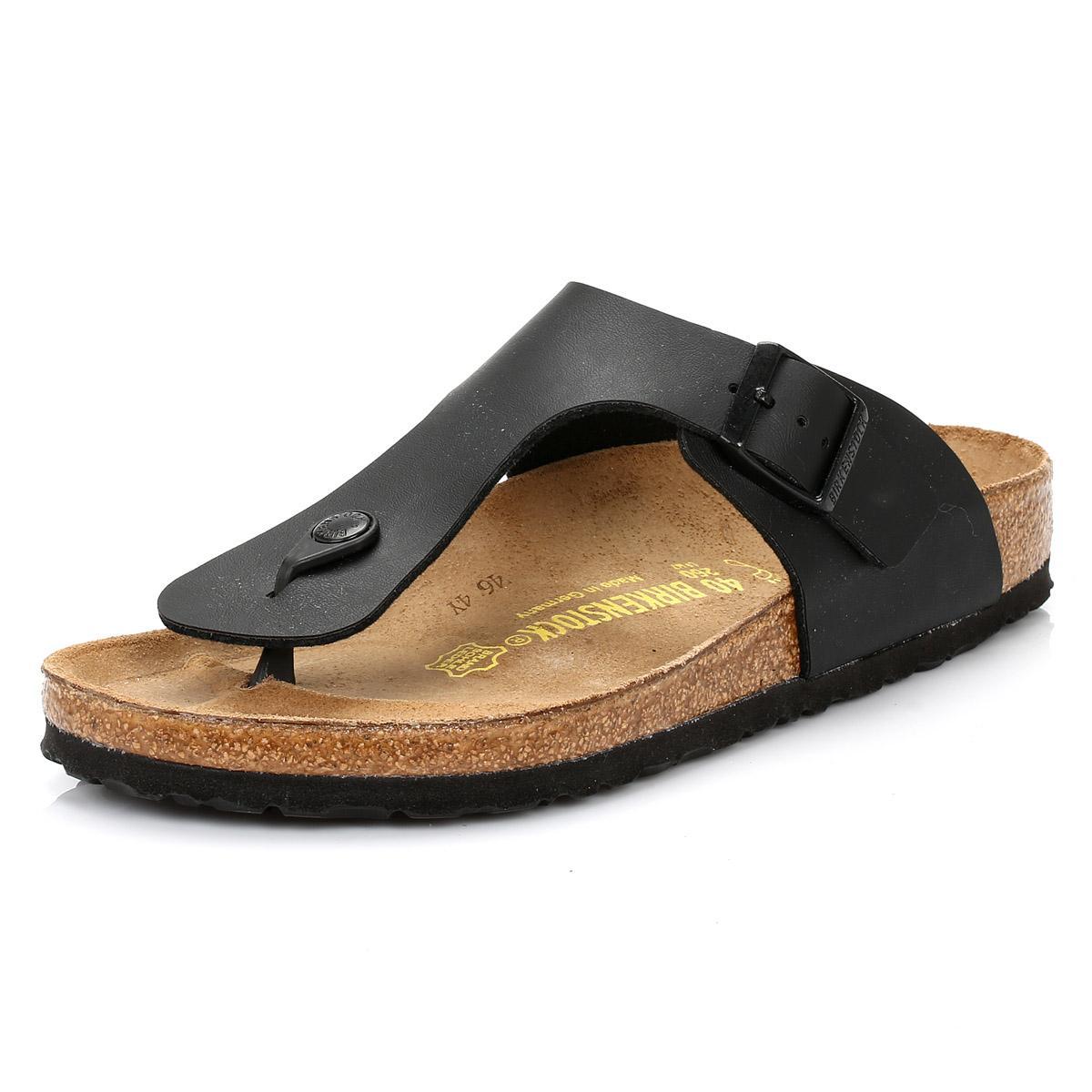 c9a455617d17 Birkenstock - Ramses Birko-flor Mens Black Sandals - Lyst. View fullscreen