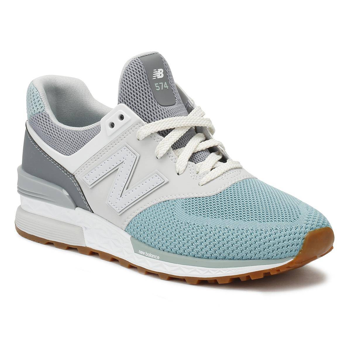 e25104beb20a Lyst - New Balance Mens Grey   Blue 574 Sport Trainers in Blue for Men