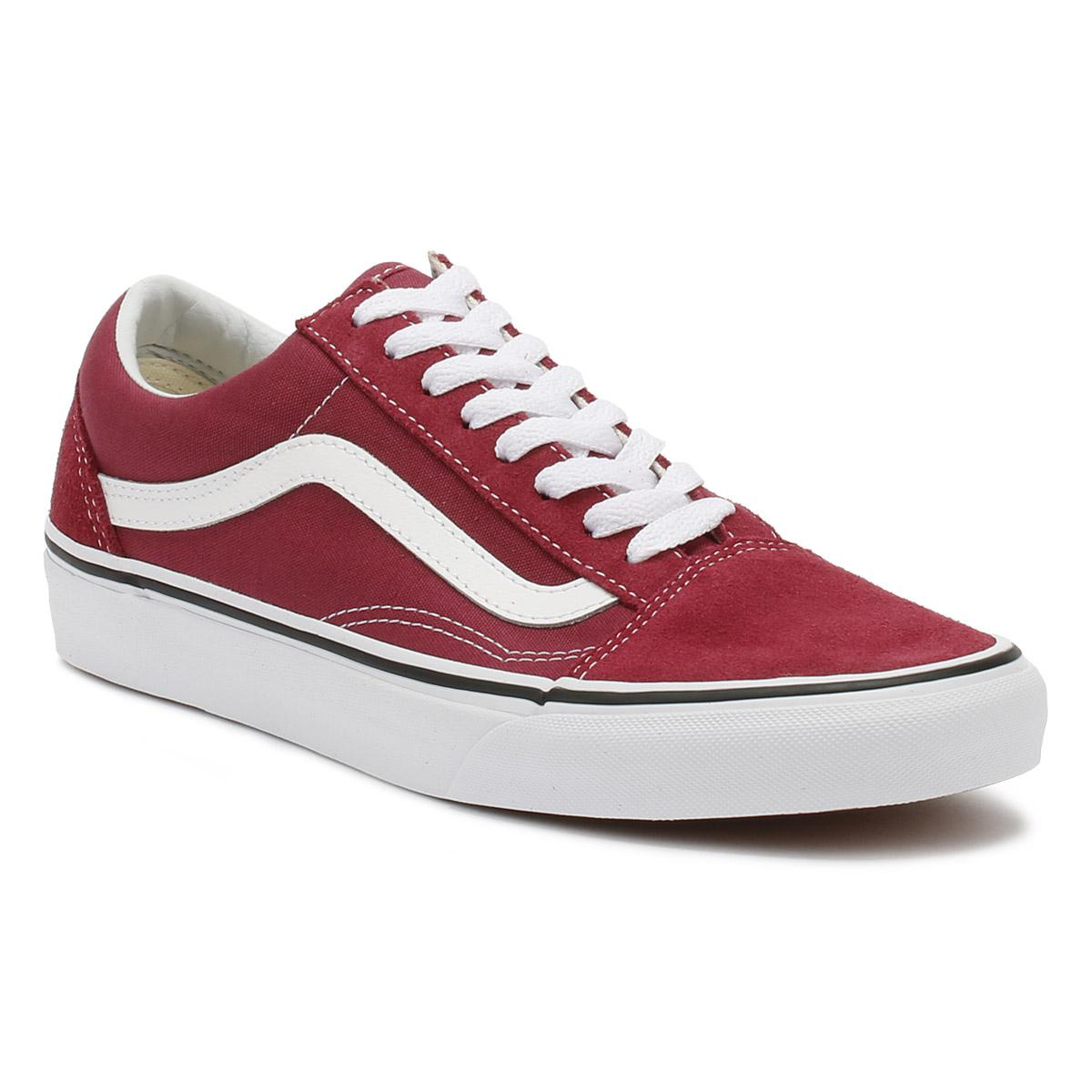 e25f7ef3e2e1 Vans. Dry Rose Red   True White Old Skool Trainers Women s Shoes ...