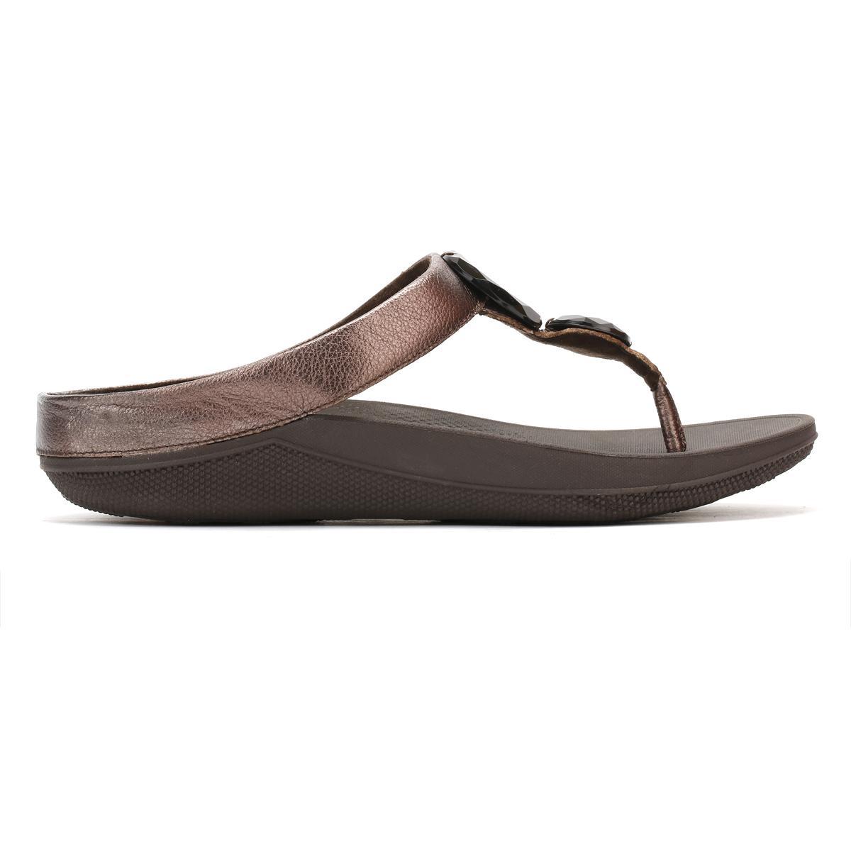 e51251a7cc5d Lyst - Fitflop Womens Bronze Luna Pop Sandals in Brown