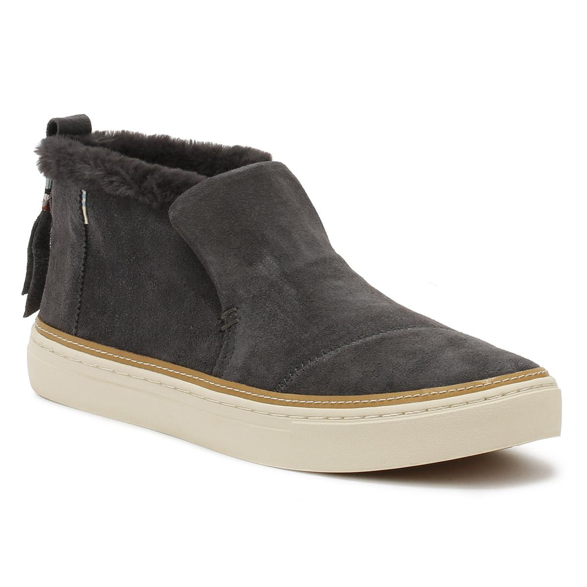 afe0b10f8ee TOMS Womens Grey Suede Paxton Shoes in Gray - Save 31% - Lyst