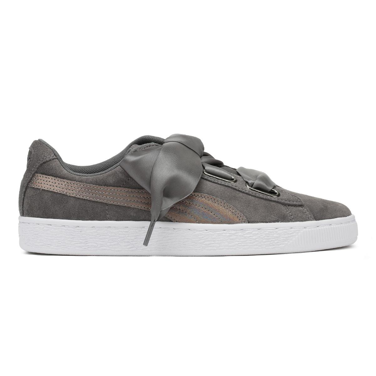 Womens Suede Lunalux WNs Trainers, Smoked Pearl Puma