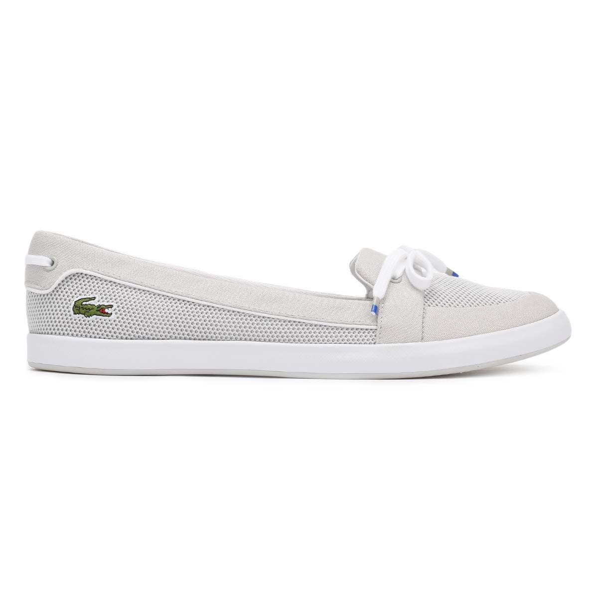 c1907d65e Lyst - Lacoste Womens Light Grey Lancelle Boat 117 1 Caw Shoes in Gray