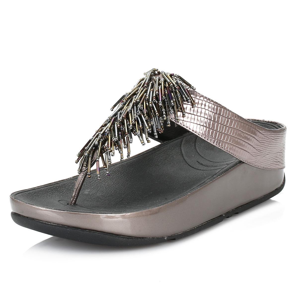 d10939310f3b Lyst - Fitflop Womens Cha Cha Nimbus Silver Sandals in Metallic