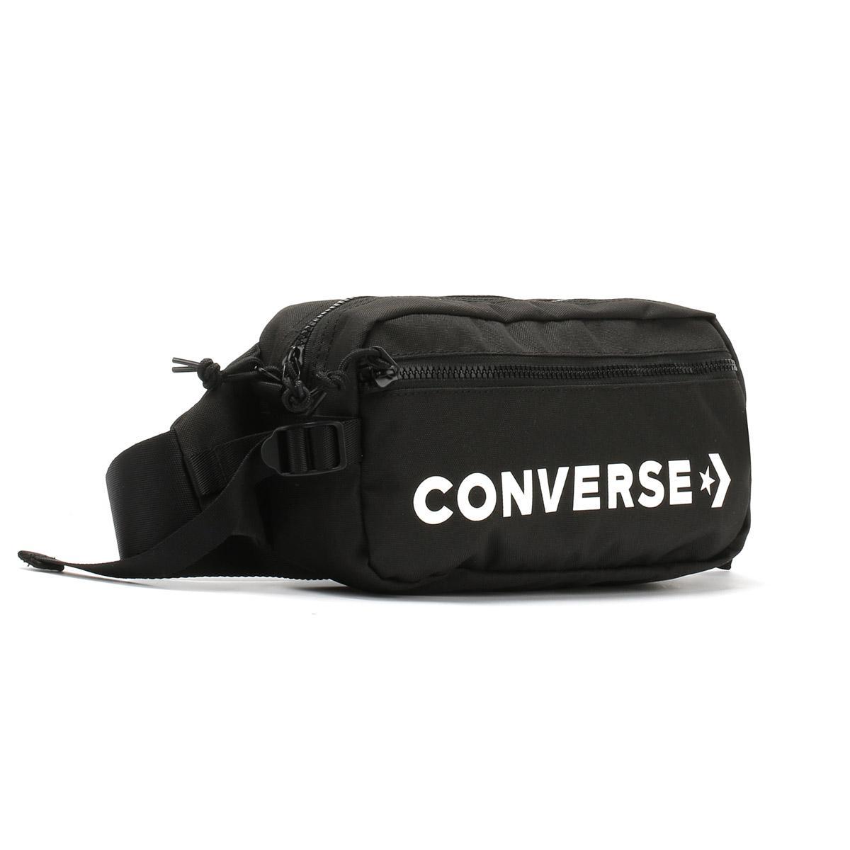 Lyst - Converse Black   White Fast Pack Sling Bag in Black for Men 26775cc526