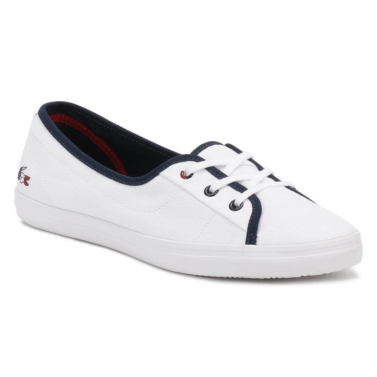 f59962818 Lacoste Womens White Ziane Chunky 317 1 Trainers in White - Lyst