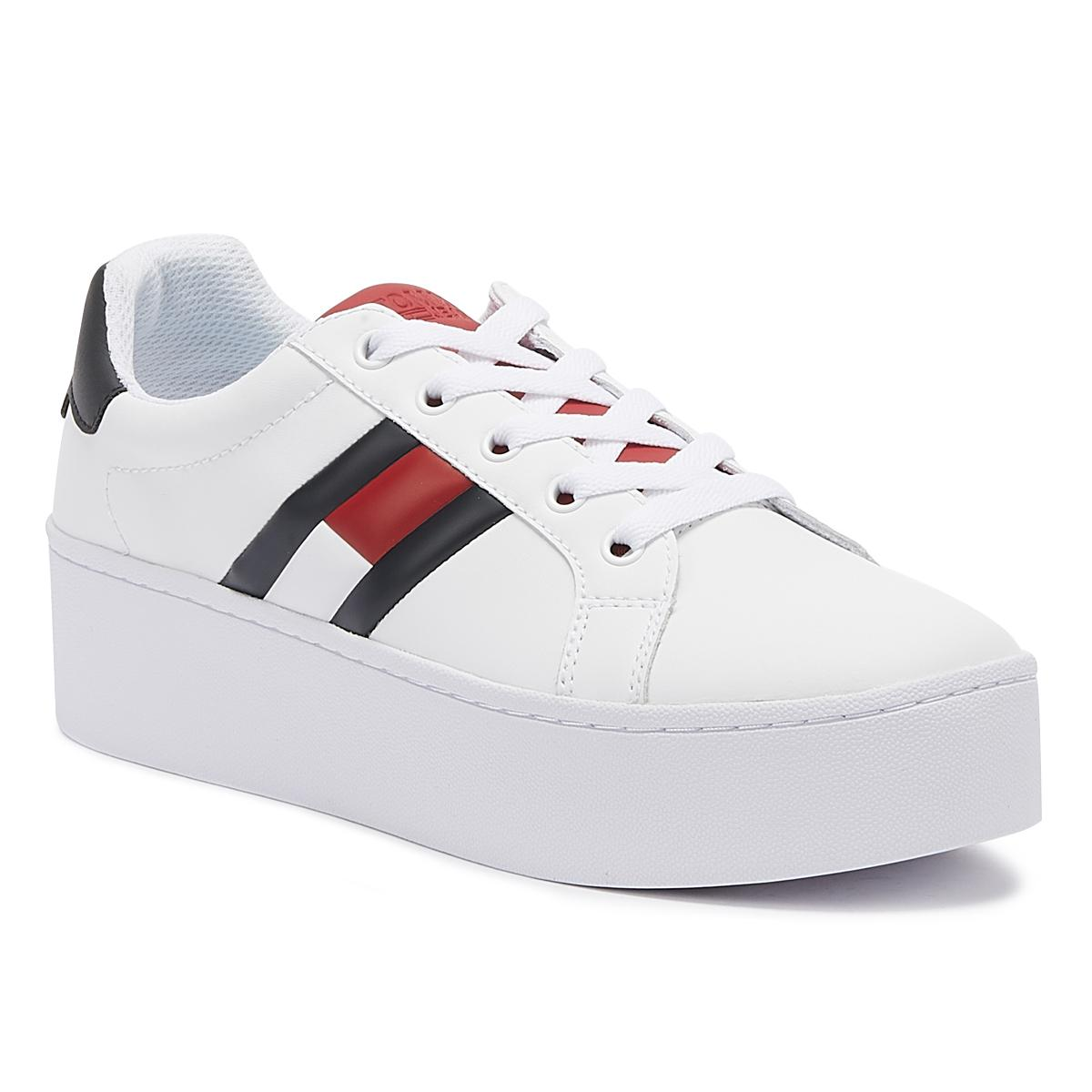 bc10cde80 Lyst - Tommy Hilfiger Tommy Jeans Icon Womens Rwb Trainers in White
