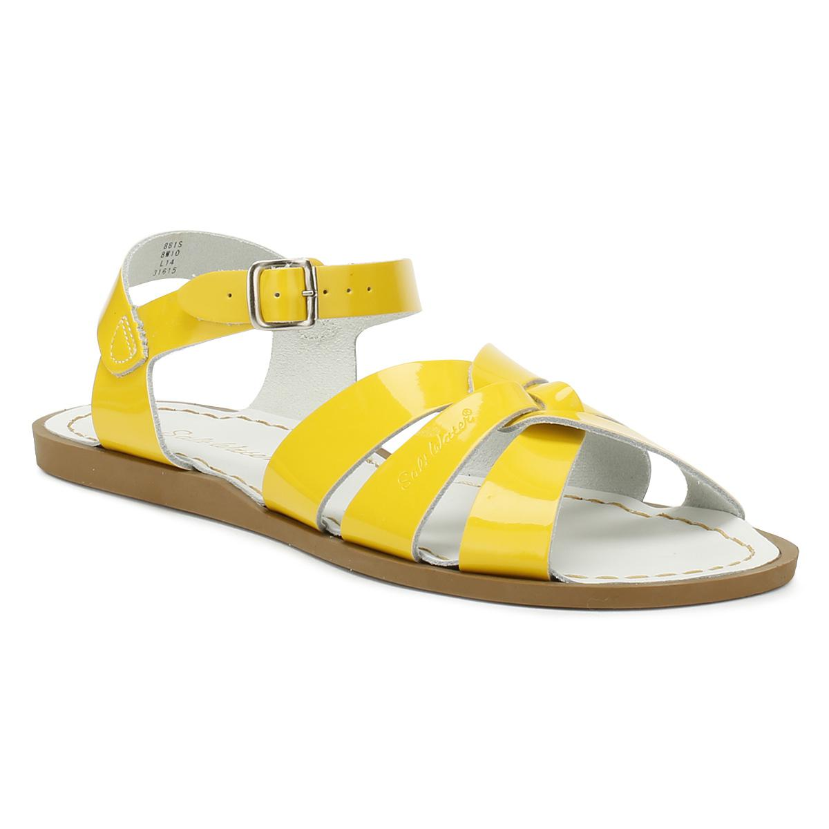 18d73a953614 Salt Water Womens Shiny Yellow Original Sandals in Yellow - Lyst salt water  sandals womens yellow