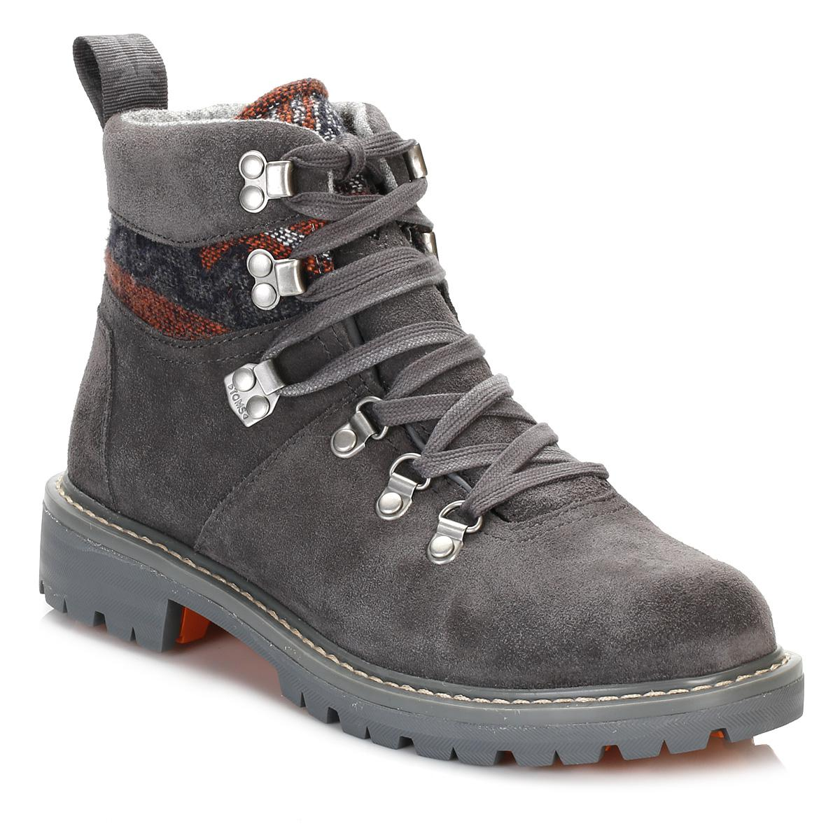 6f2c4555455 Lyst - TOMS Womens Iron Grey Summit Hiker Boots in Gray