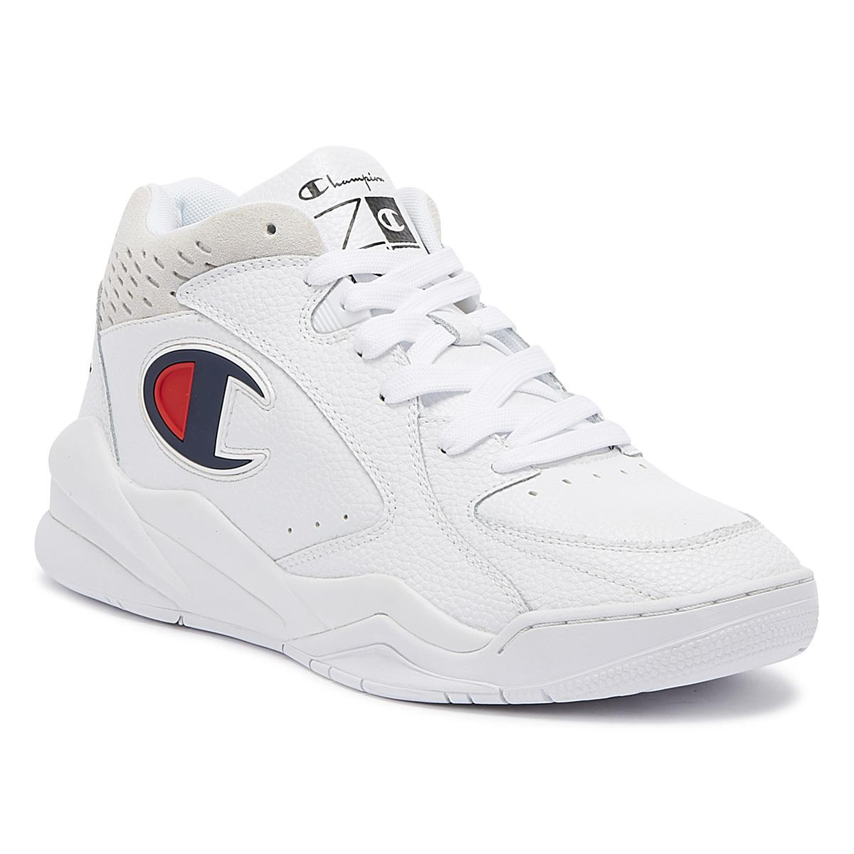 d6ae710dbf7 Champion - Zone Mid Mens White Trainers for Men - Lyst. View fullscreen