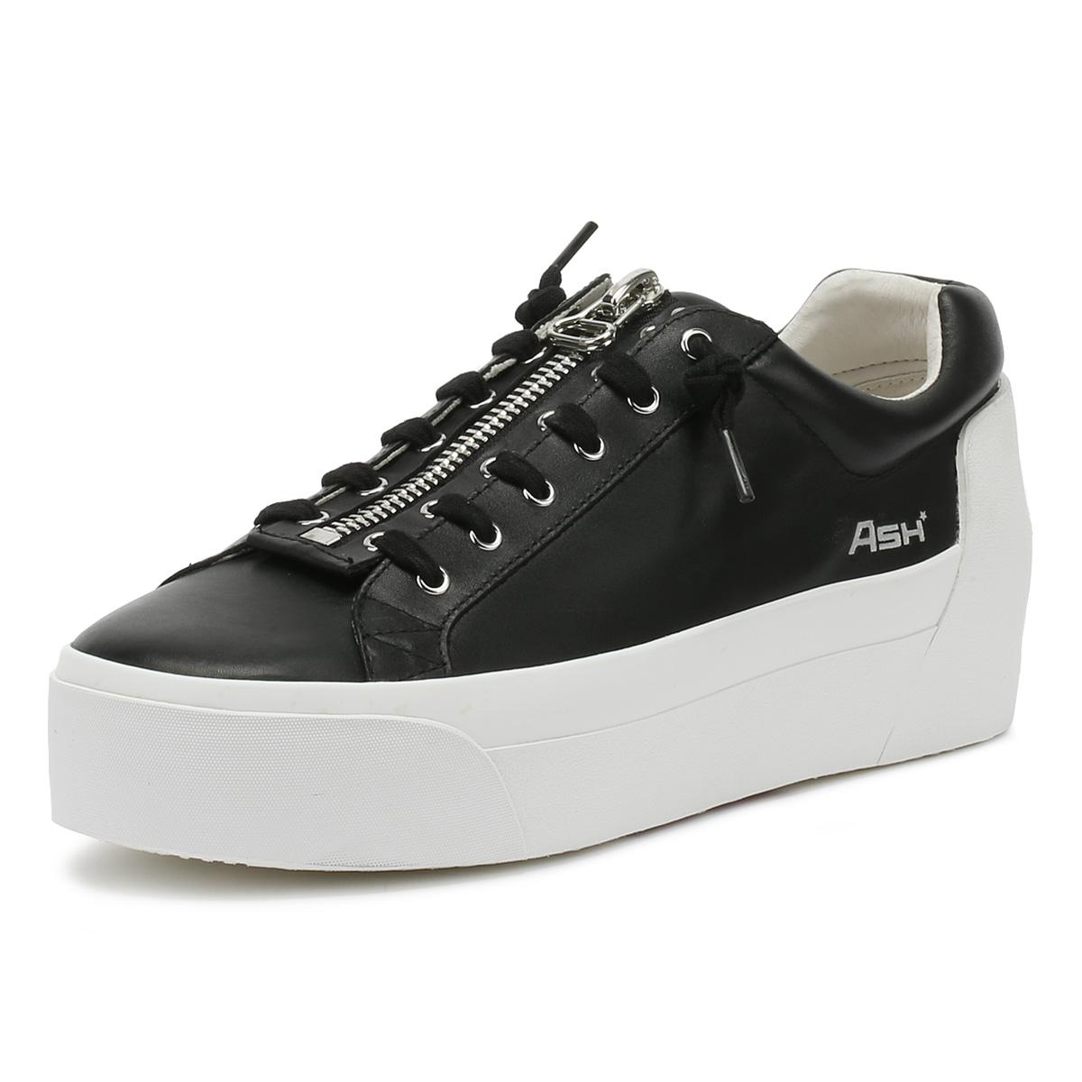 c3345b870b1 Ash - Black  buzz  Zip Leather Platform Sneakers - Lyst. View fullscreen