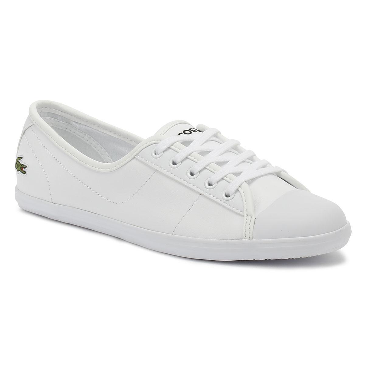 322b450fbd798 Lyst - Lacoste Ziane Bl 1 Cfa Womens White Trainers in White