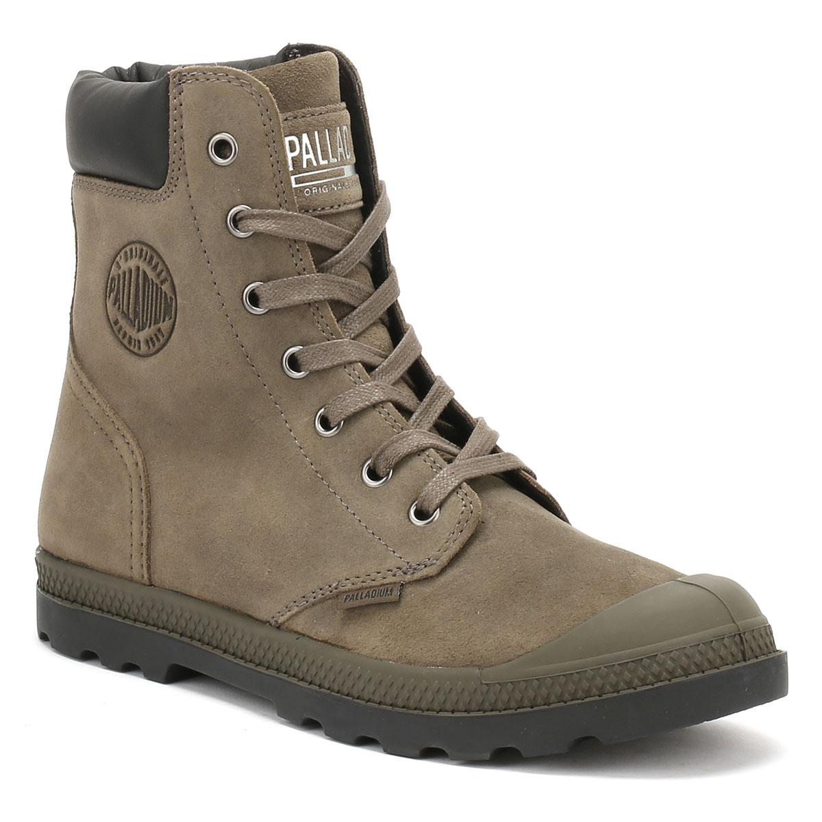 New Palladium Pallabosse Off Lea Brown Ankle Boots for Women Sale
