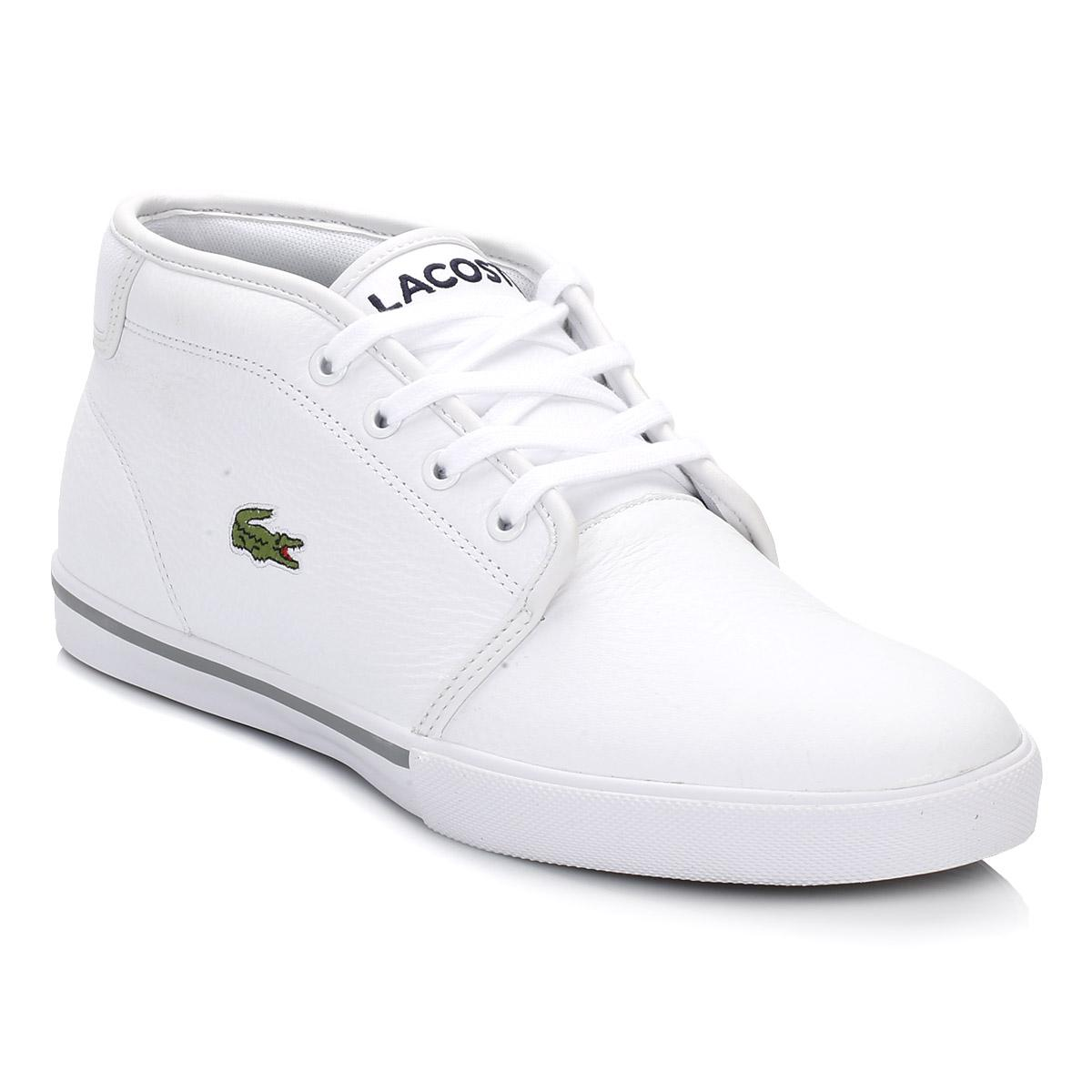 6f4ae1e3bf2f15 Lacoste Mens White Ampthill Trainers in White for Men - Save 52% - Lyst