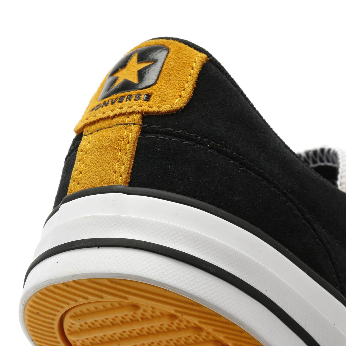 611e1a6fe1b3 Lyst - Converse Mens Black   White Star Player Suede Ox Trainers in ...