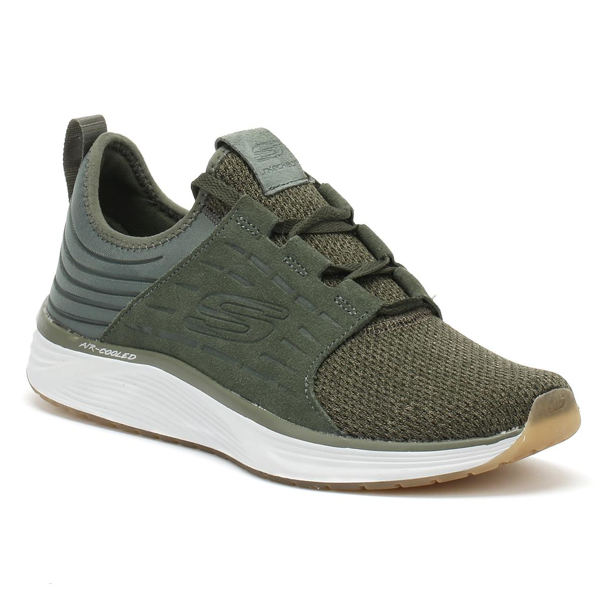 cd653cfc8d70 Lyst - Skechers Mens Olive Green Skyline Silsher Trainers in Green ...