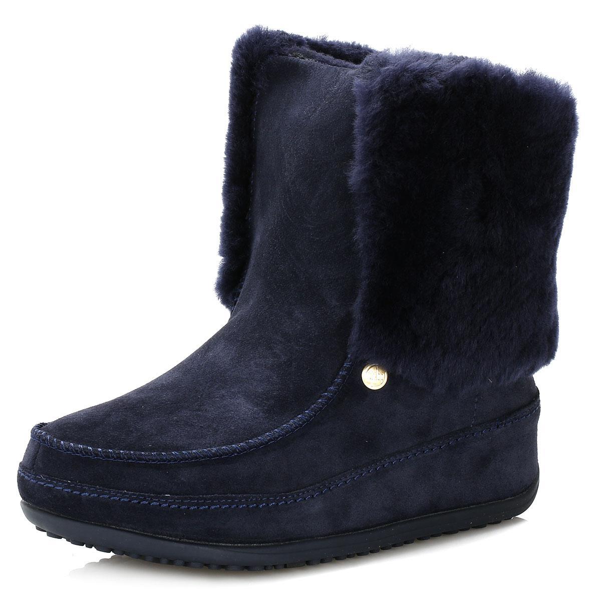 587dbcf07292c5 Lyst - Fitflop Womens Supernavy Supercuff Mukluk Boots in Blue