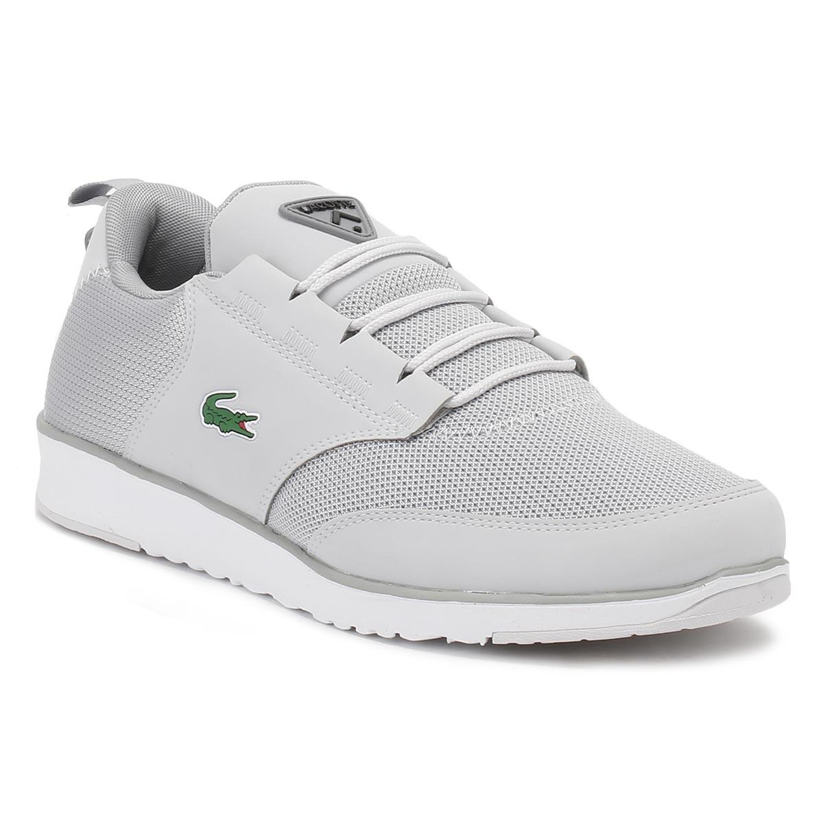 Lacoste. Gray Mens Light Grey L.ight 217 1 Spm Trainers