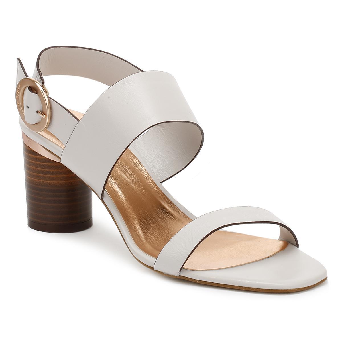 c68b39ad09ac1 Lyst - Ted Baker Womens Light Grey Azmara Heel Sandals in Gray