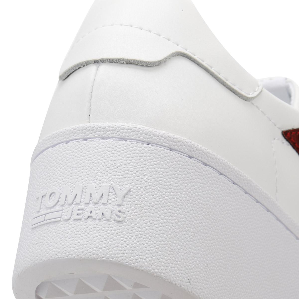 Lyst - Tommy Hilfiger Jeans Womens White Icon Sparkle Trainers in White 5292308b1