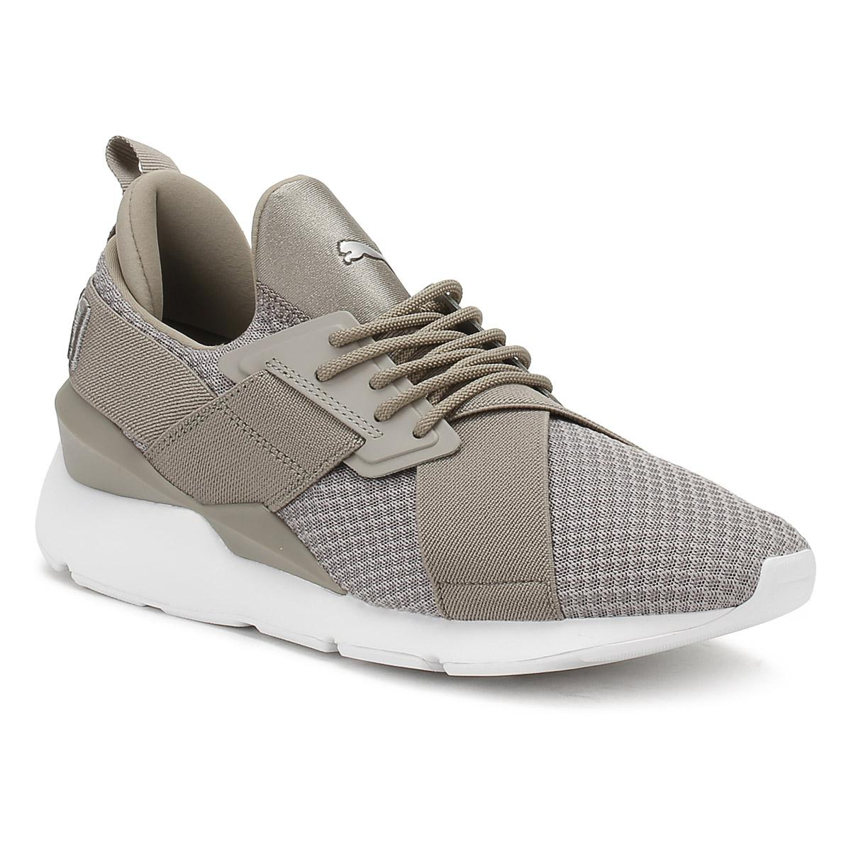 4e0bfac77e0 Puma Womens Rock Grey Muse X-strap Ep Trainers in Gray for Men - Lyst