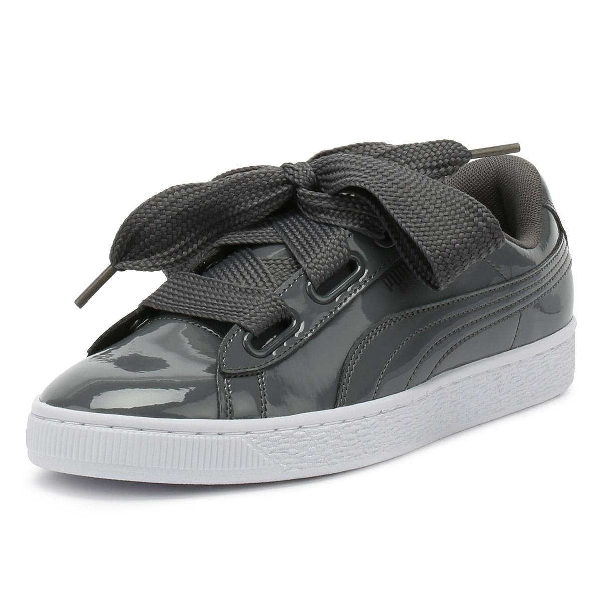23a2b75a5c8f ... Basket Heart Patent Trainers Women s Shoes (trainers). View fullscreen