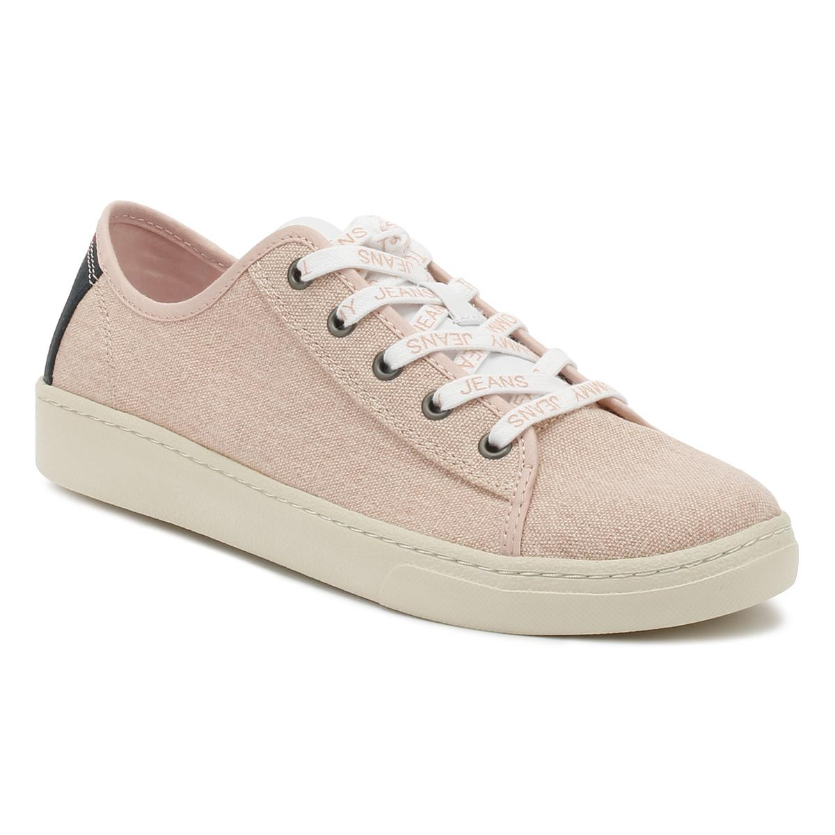 facb608e68cfec Tommy Hilfiger Tommy Jeans Womens Rose Cloud Low Trainers in Pink ...