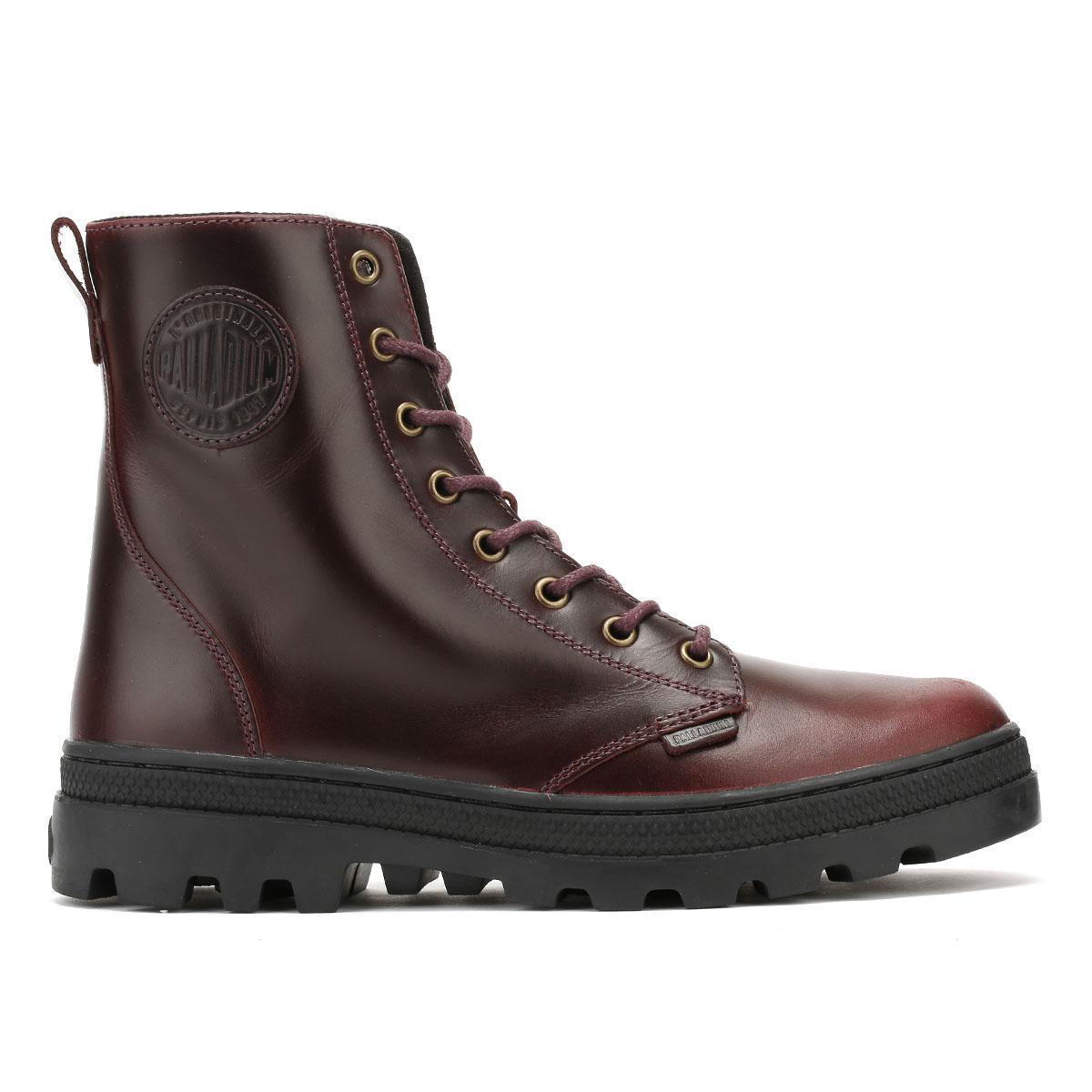 d25898c915e93 Palladium Womens Regal Burgundy Pallabosse Off Boots in Brown - Lyst