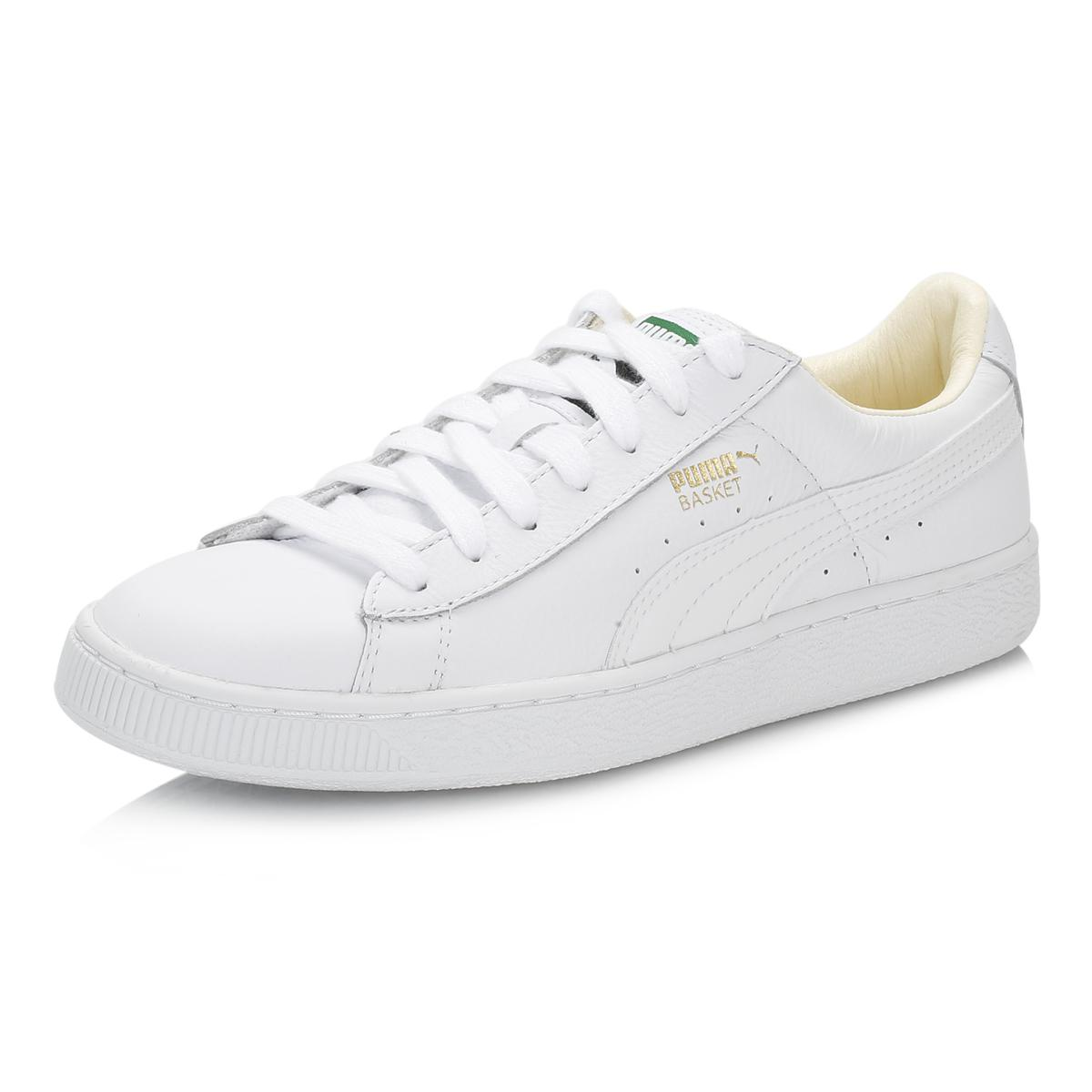 1a0080a86e46 PUMA - Mens White Basket Classic Leather Trainers for Men - Lyst. View  fullscreen