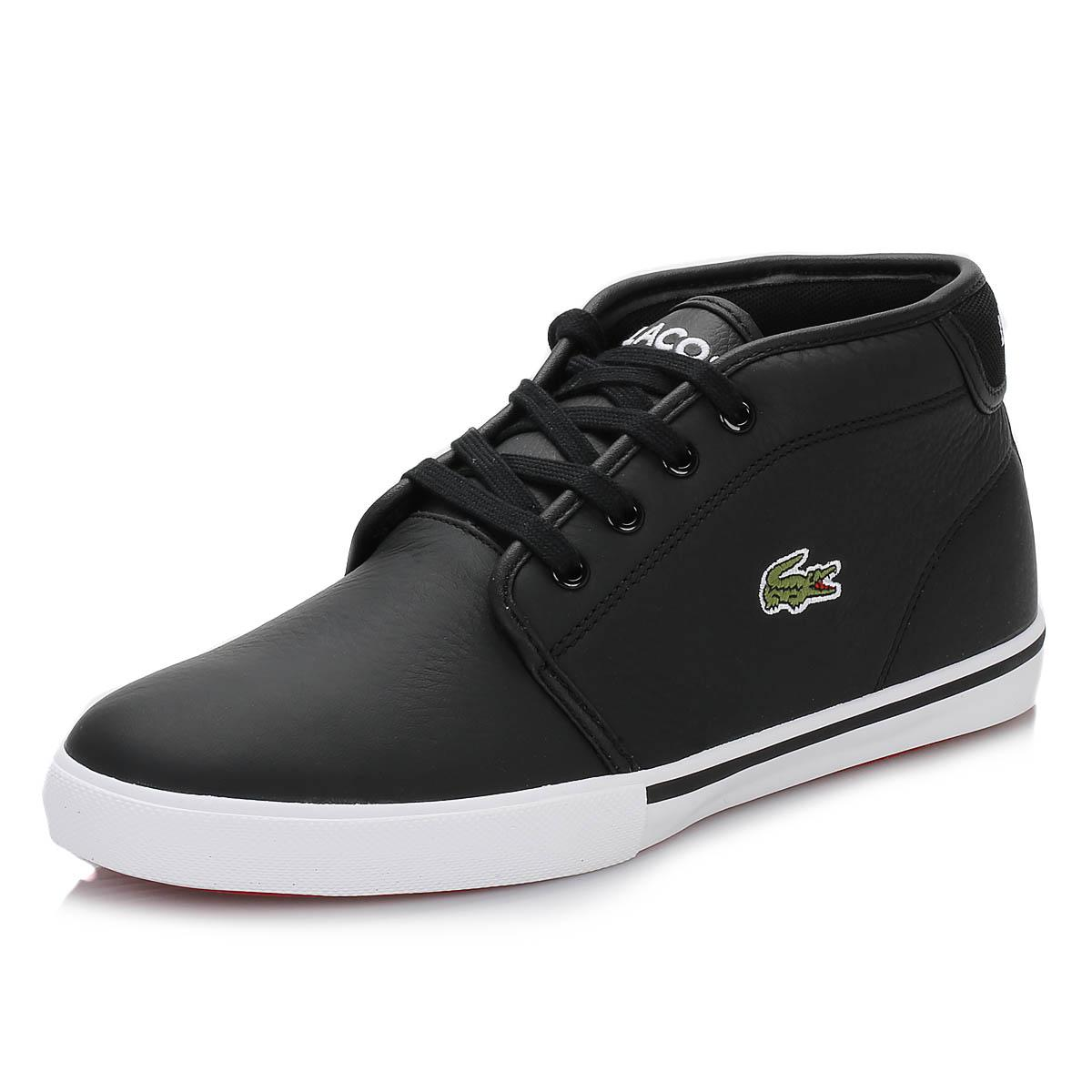 404c1b802 Lacoste Mens Black Ampthill Trainers in Black for Men - Save 11% - Lyst