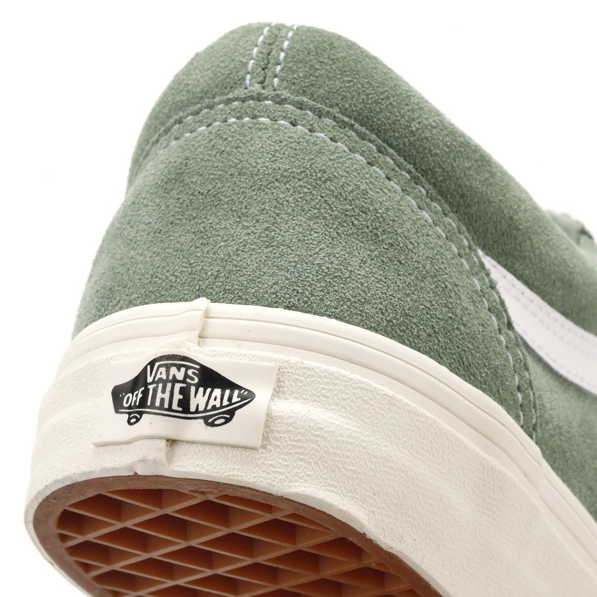 9999c29c8e Lyst - Vans Womens Green   True White Retro Sport Suede Old Skool ...
