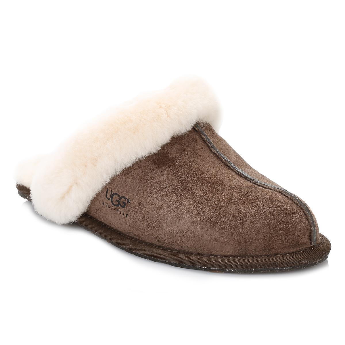 77812995c756 UGG UGG Scuffette Ii Womens Espresso Brown Sheepskin Slippers in ...
