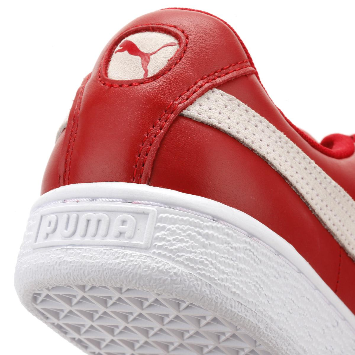 ce3c9a81adec Lyst - PUMA Womens Toreador Red Basket Heart De Trainers in Red