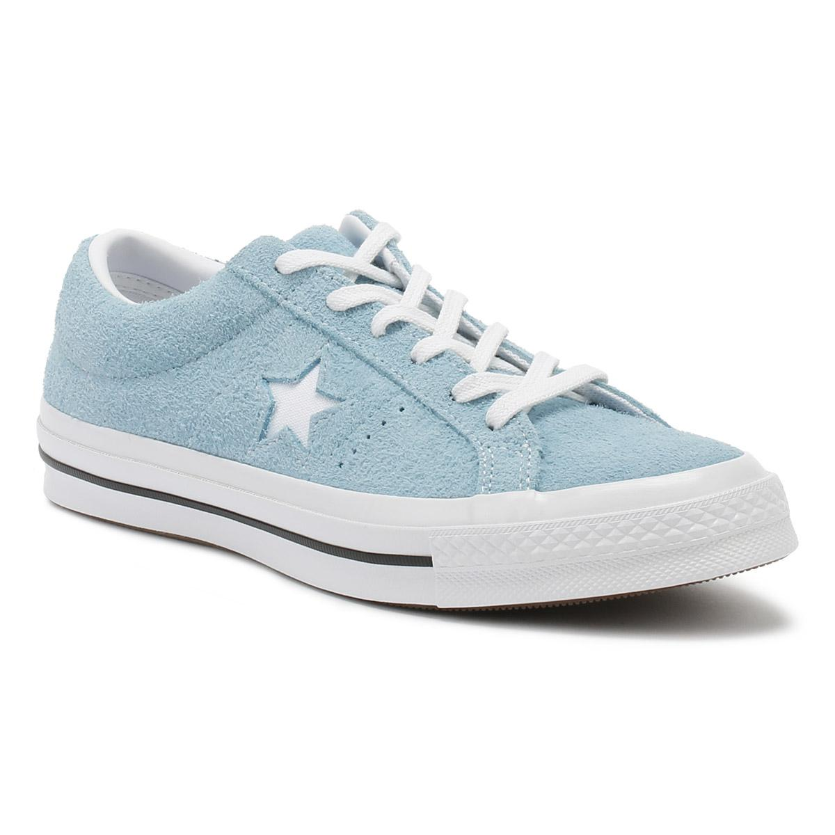 63582b58f00 Converse One Star Mens Shoreline Blue Suede Ox Trainers in Blue for ...
