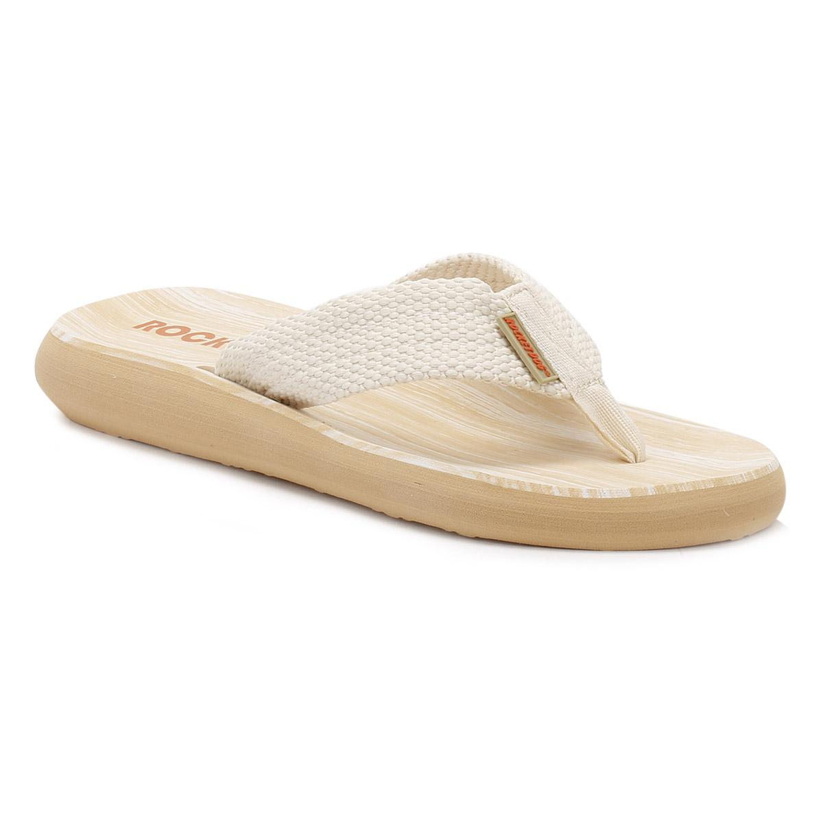 9562bb42e5a289 Rocket Dog Double Cream Sunset Webbing Flip Flops in Natural - Lyst