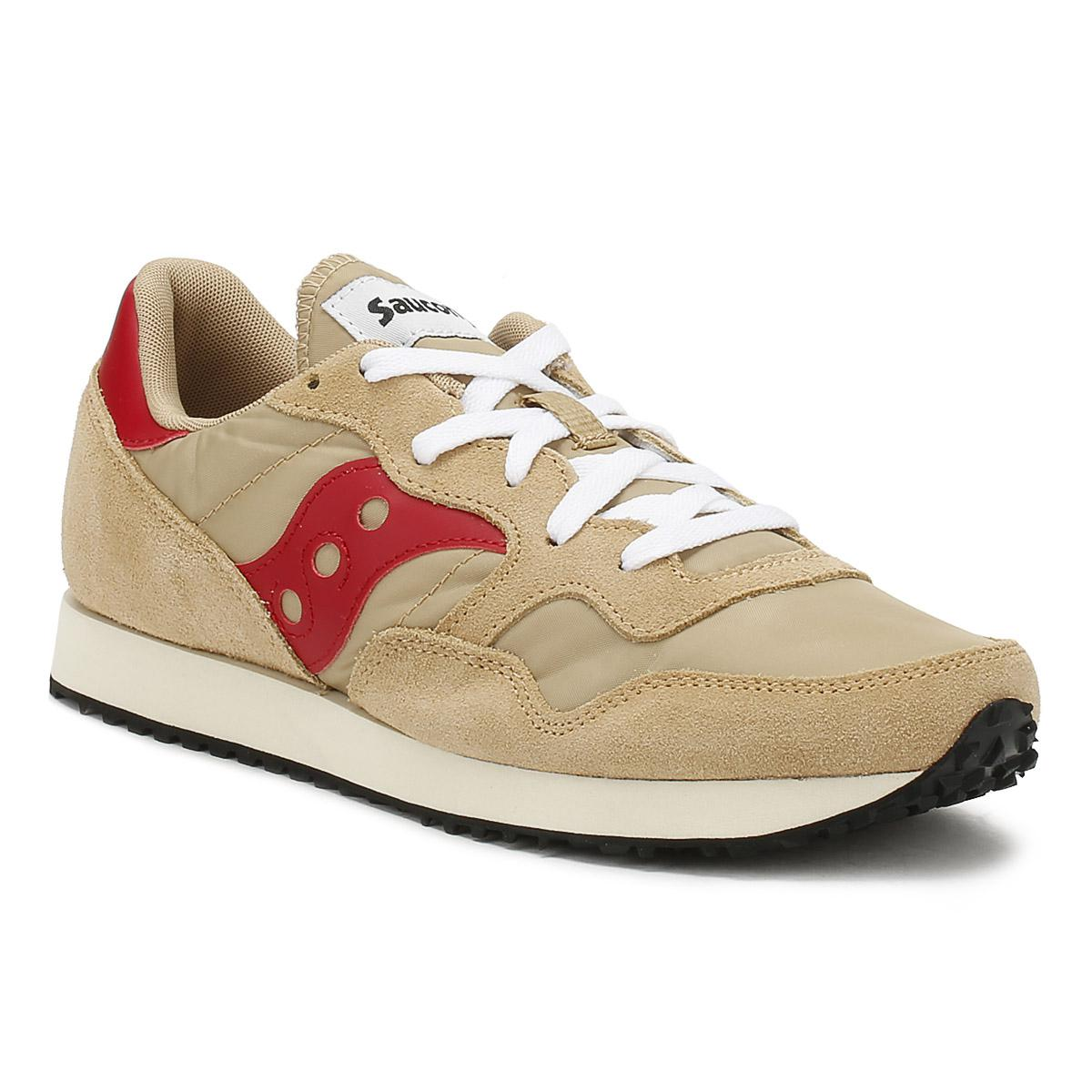 dacb5042393d Lyst - Saucony Mens Tan   Red Dxn Vintage Trainers for Men