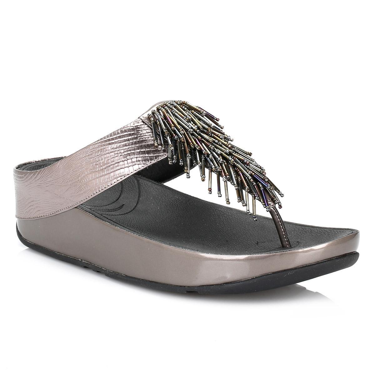 fd75d642edc9bd Lyst - Fitflop Womens Cha Cha Nimbus Silver Sandals in Metallic