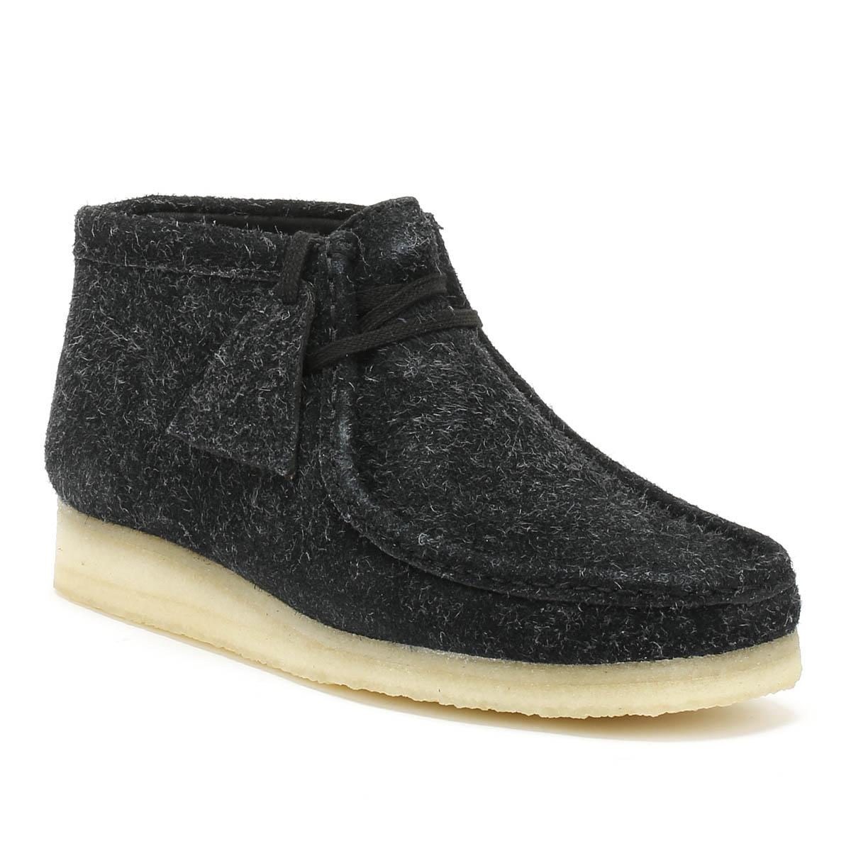 Clarks. Originals Womens Black Interest Wallabee Boots