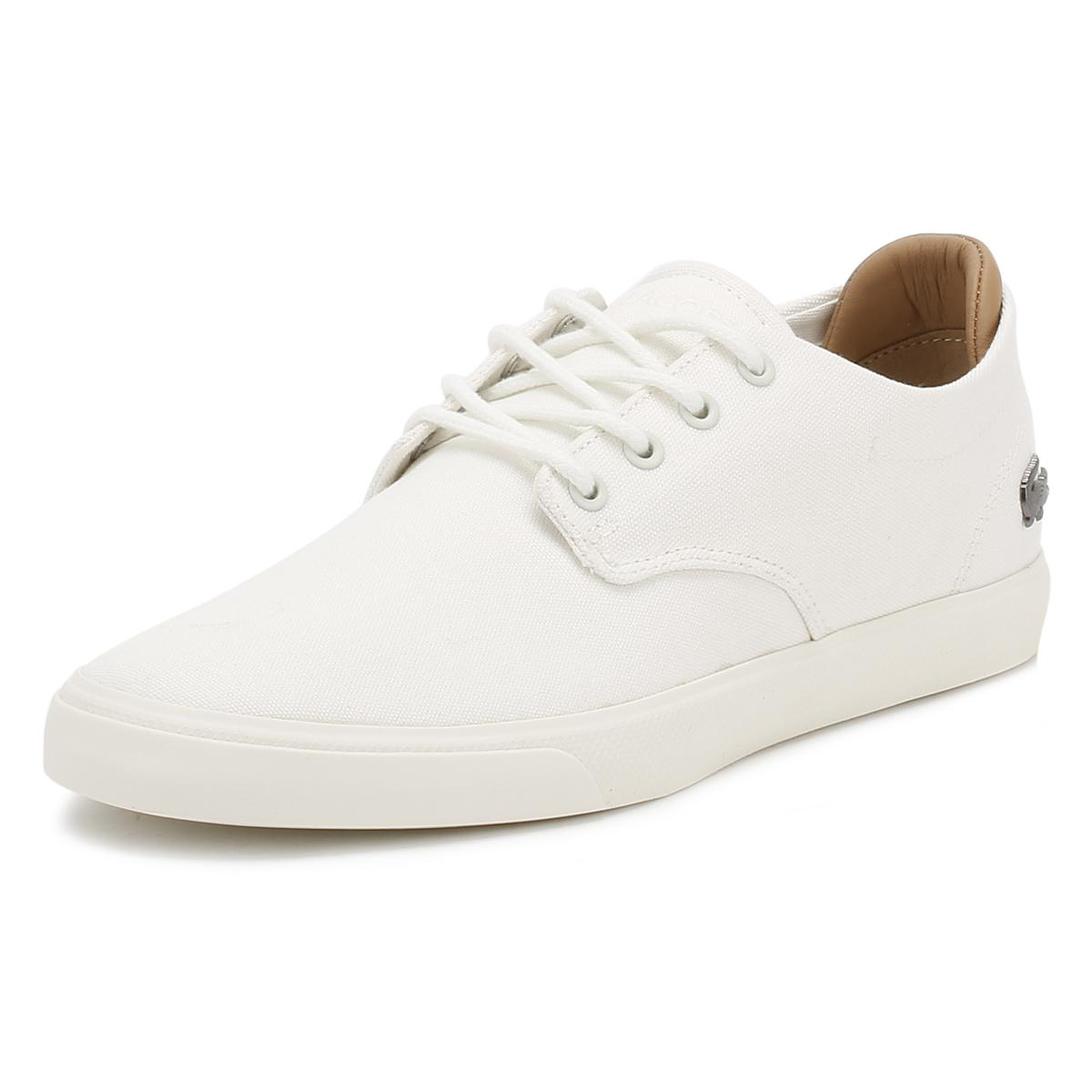 620ce25ee7a85a Lacoste Mens Off White Espere 217 1 Cam Trainers in White for Men - Lyst