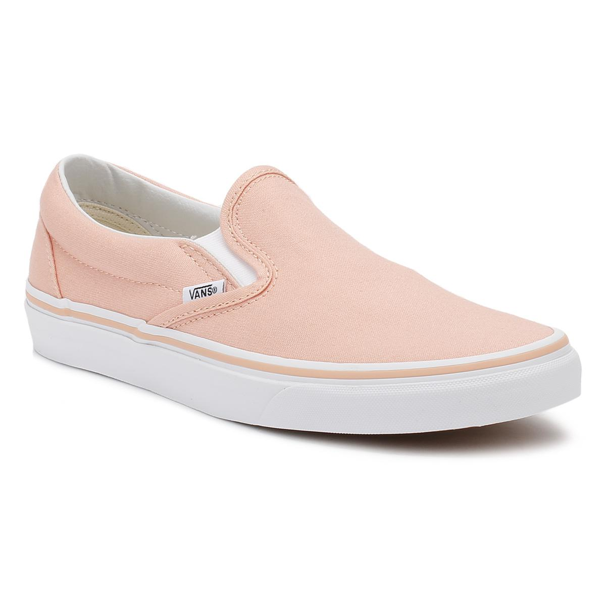 741e0f6f63becc Lyst - Vans Classic Slip-on Womens Tropical Peach True White Canvas ...