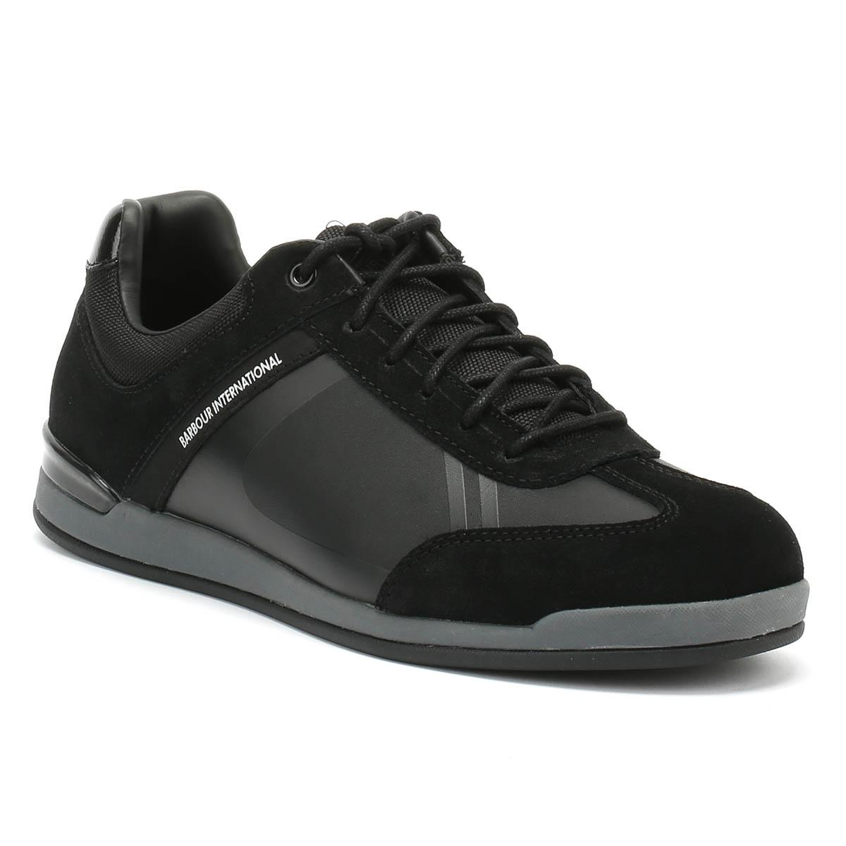 free shipping 2d864 62b63 Barbour. Mens Black Cinder Trainer