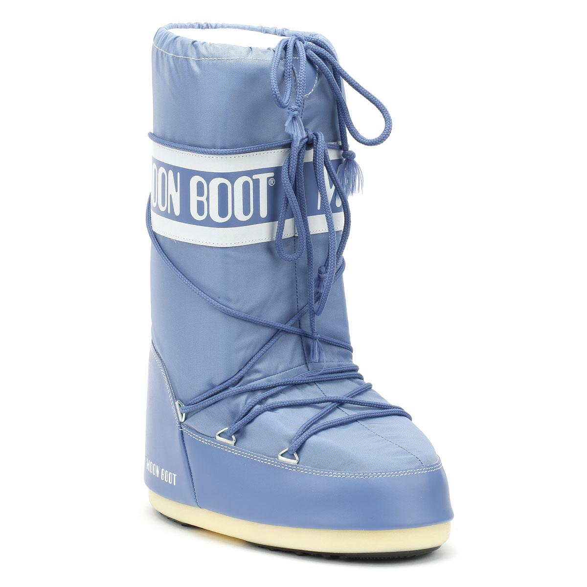 312348463d44 Moon Boot Classic Icon Womens Stone Wash Nylon Boots in Blue - Save ...
